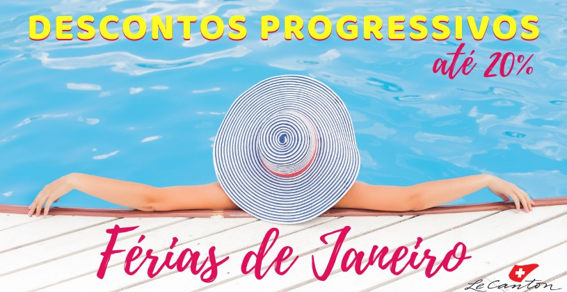 Imperdível: curta as férias de Janeiro com até 20% de desconto no Le Canton!